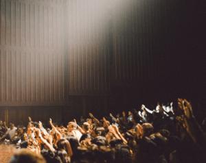 Hands raised in worship church