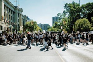 People Walking protest on street